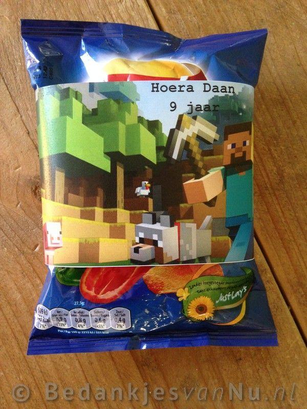 Minecraft chips wikkels www.BedankjesvanNu.nl