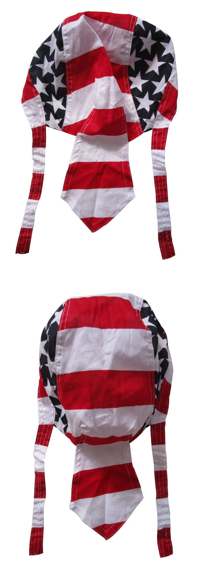 Free Shipping 2017 New Mountain Biking Outdoor Cotton Red White Star American Flag Bandanas Head Wraps Durag Caps For Mens Male