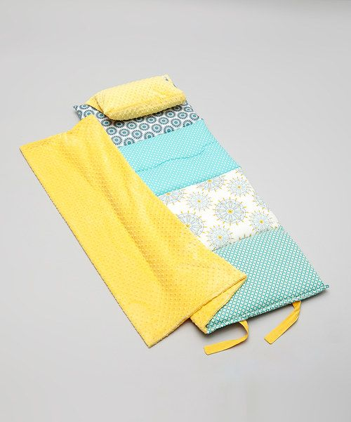 Another great find on #zulily! Teal & Yellow Indie Dreamer Quilted Nap Mat by Janiebee #zulilyfinds