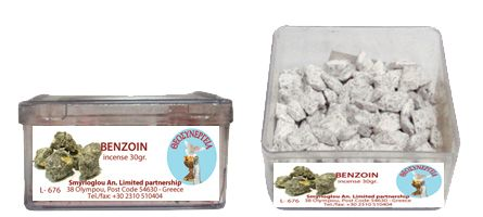 Greek Orthodox Handmade Incense - Benzoin. Plastic box of 30gr.