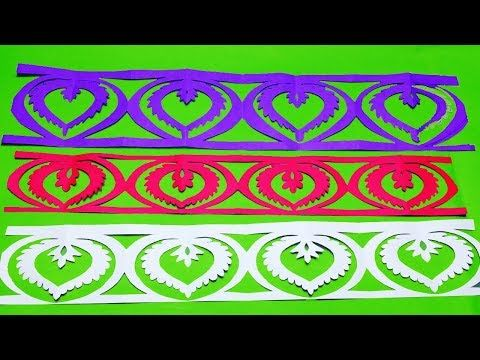 Paper Cutting How To Make Paper Cutting Border Designs Flowers Easy