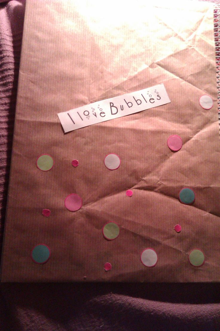 Get ready for school, and wrap in some cheap notebook (back)