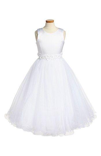 Joan Calabrese for Mon Cheri Sleeveless Communion Dress (Little Girls & Big Girls) available at #Nordstrom