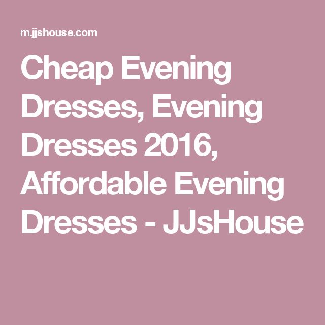 Cheap Evening Dresses, Evening Dresses 2016, Affordable Evening Dresses - JJsHouse
