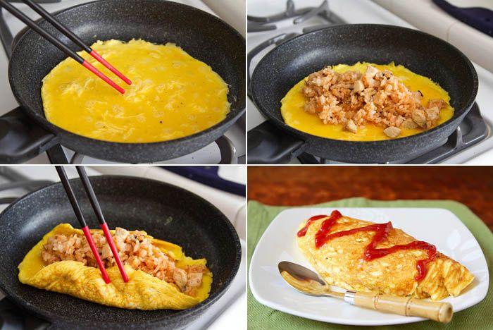 Omurice-- Omelet + Fried Rice