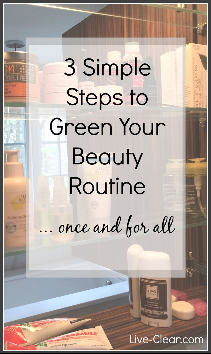 Perfect for New Year's Resolutions... 3 simple steps to tackle that pile of products in the bathroom and finally have a green beauty routine!