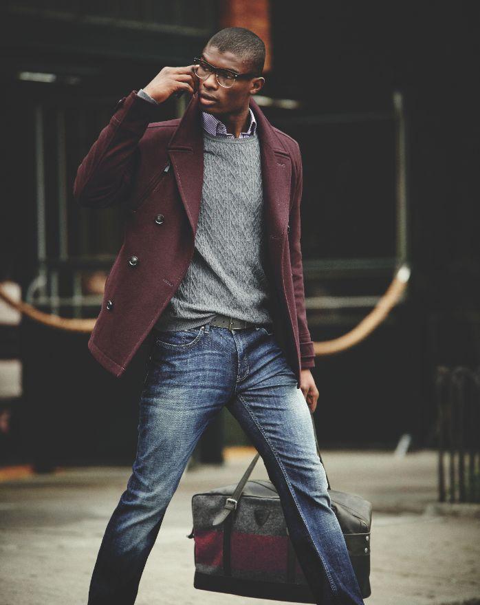 blazer tipo coat - detalhes: mistura de cores, bolsa de mão (elegante/profissional)