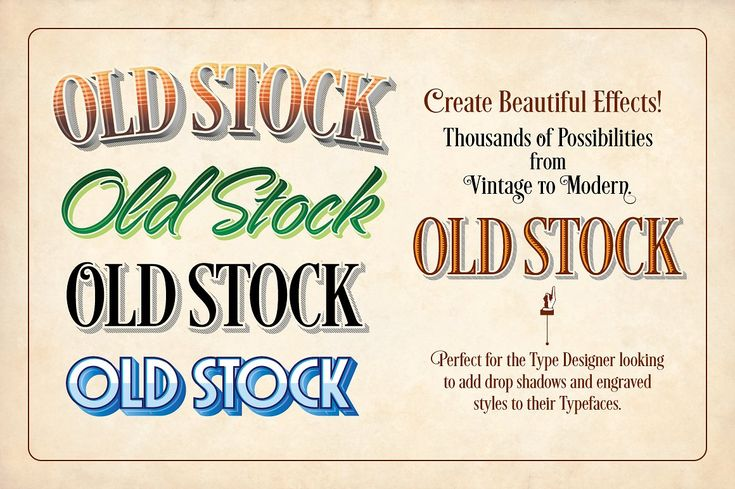 Old Stock-Illustrator Actions by Borges Lettering on @creativemarket