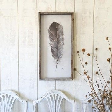 Dove Feather Framed Print