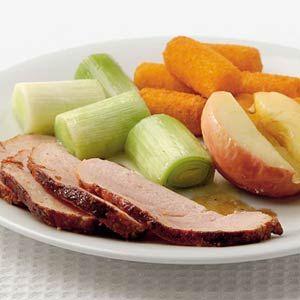 Recept - Beenham met gepofte appel uit de oven - Allerhande