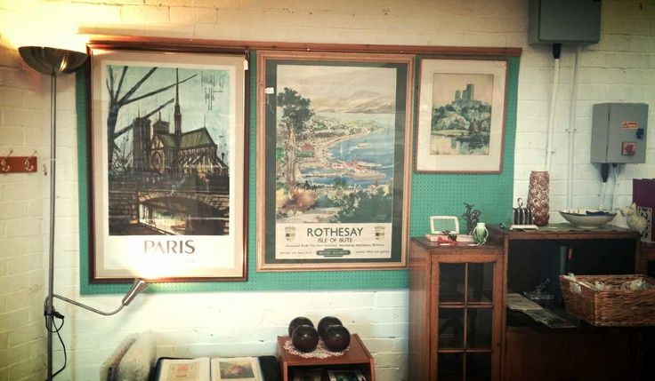 Bernard Buffet Paris Railway Poster, Frank Mason British Railways Vintage Poster, Set of 4 1933 Lignum Vitae Bowls