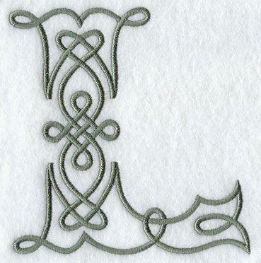 Celtic Knotwork Letter L - 5 Inch