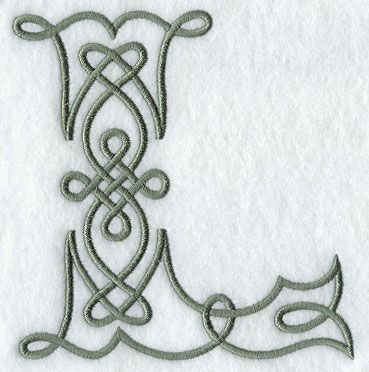 Celtic Knotwork Letter L - 5 Inch