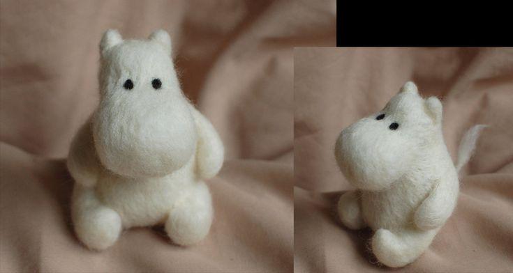 Moomin needle felt by ChloeNArt