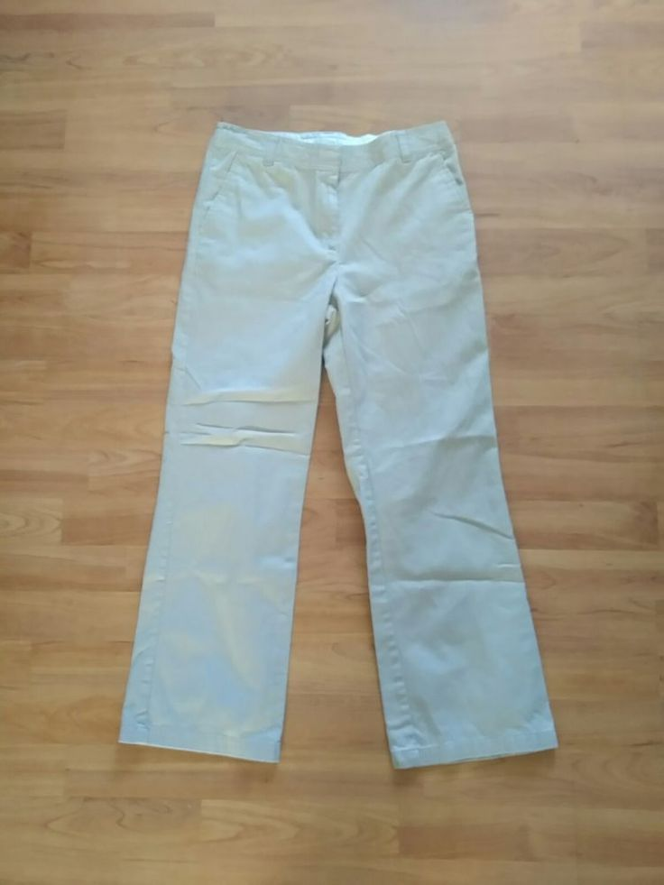 EUC Dockers Khaki Girls School Pants Adjustable Waist SZ 10 1/2 #DOCKERS #Pants