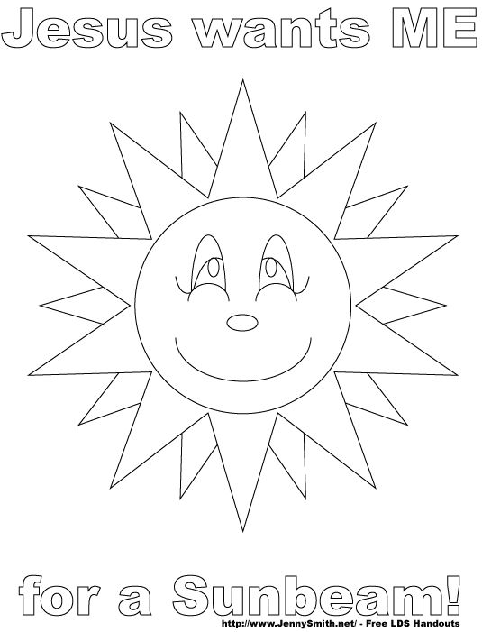 lds sunbeam coloring pages - mormon share jesus wants me for a sunbeam coloring