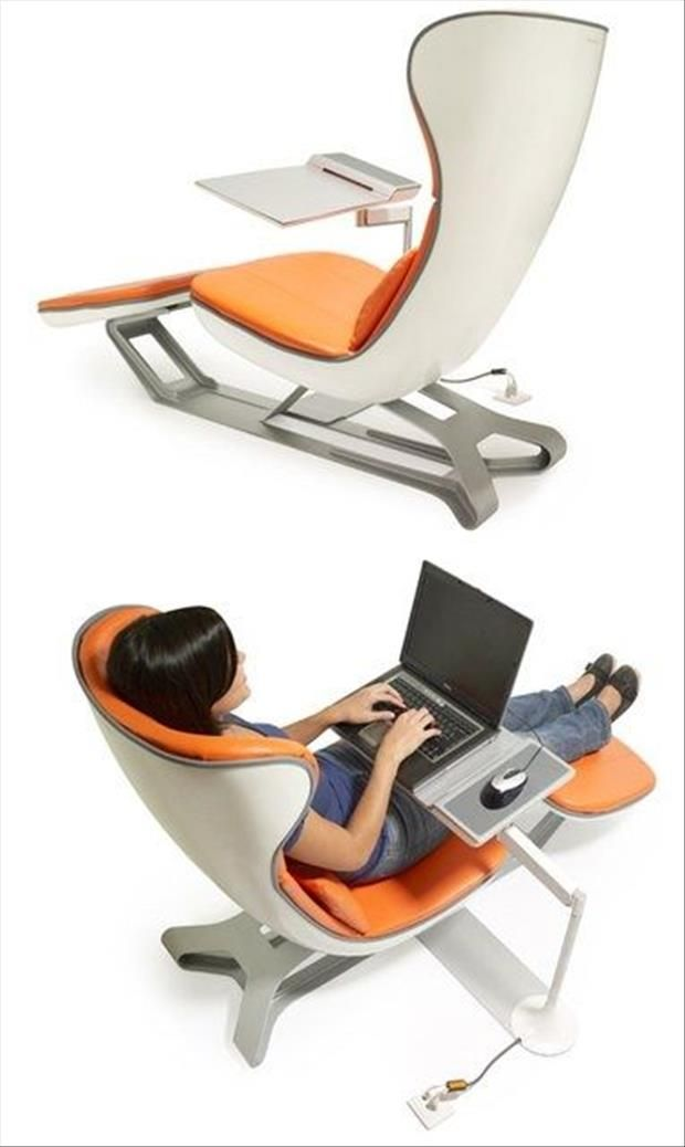 """Ergonomic Laptop Chair with Swivel Table"", by Wilson Seat Co, Inc, Batavia, OH, 513-732-2460, 800-745-6022, post by dumpaday"