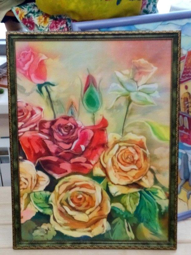 Розы, батик