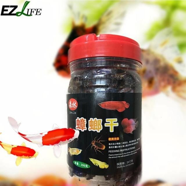 EZLIFE 200g Frozen Dried Cockroach Fish Food Aquarium Feeder Food American Cockroach Fish Feed Natural Protein PXP6364 #109
