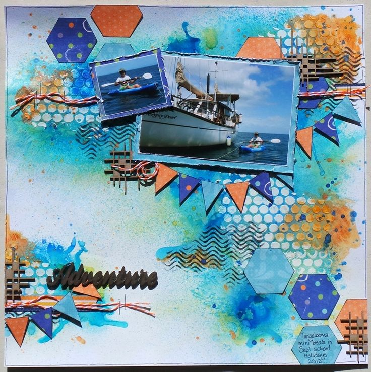 Layout by Rachelle Minett - created using Lindy's Stamp Gang Mists - http://scrappingoutback.com/manufacturers/lindys-stamp-gang