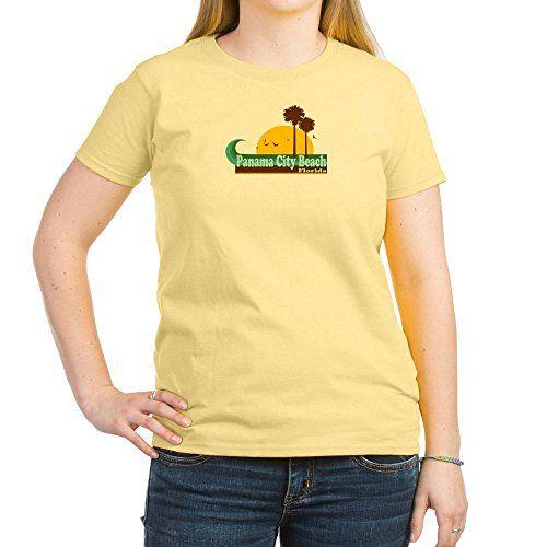 CafePress Panama City Beach FL Women's Light T-Shirt - L Light Yellow
