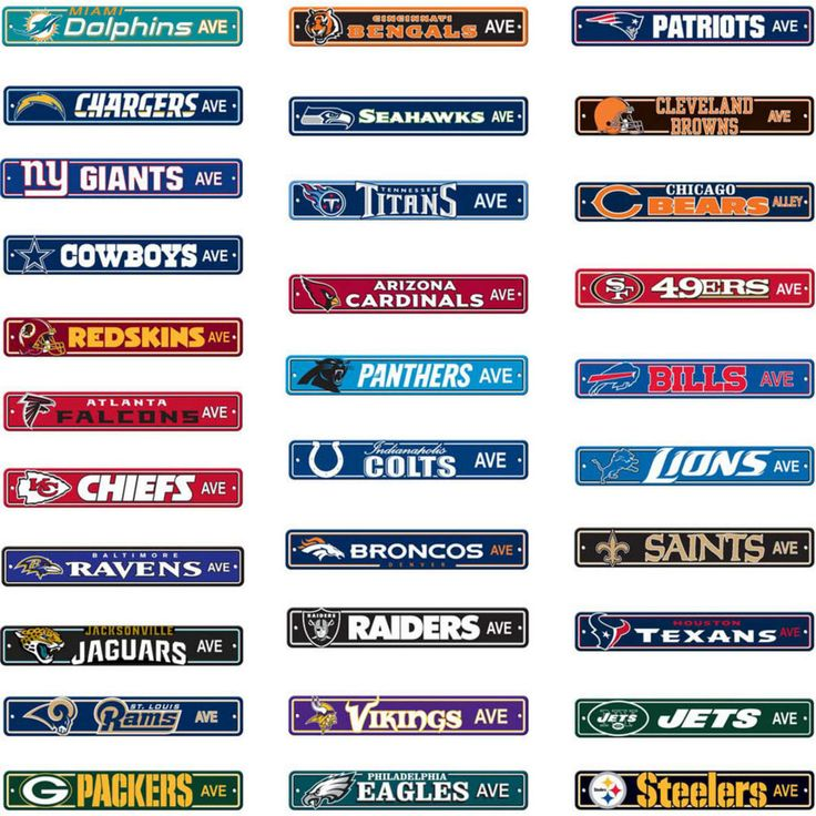 "garage sale tag ideas - NFL Street Sign Choose Your Favorite Team Name 4""x24"