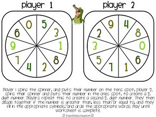 Fun game for practicing greater than and less than.