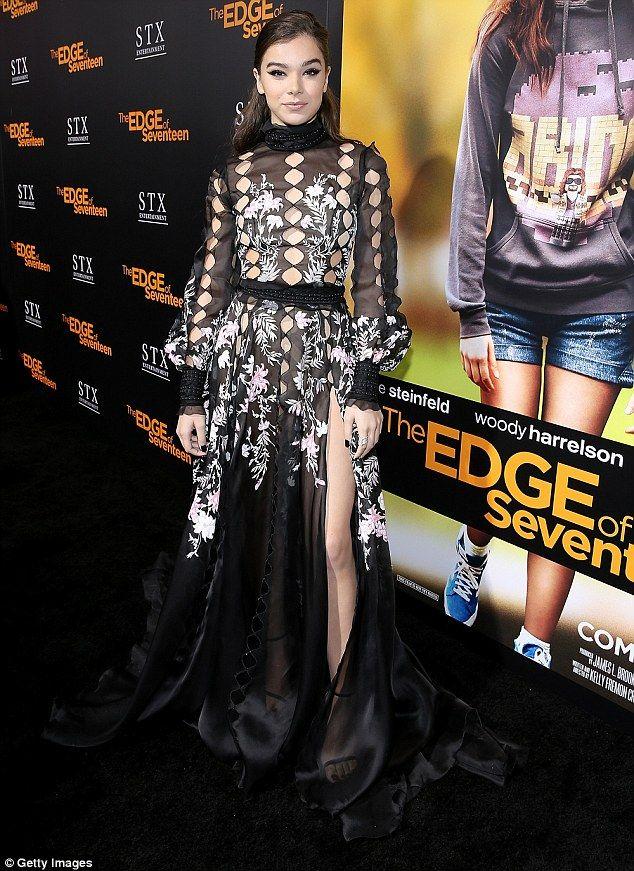 Hailee Steinfeld attended the screening of STX Entertainment's The Edge of Seventeen on November 9, 2016