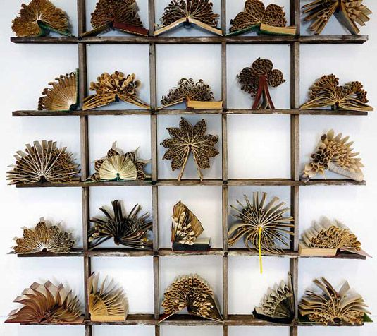 Unwanted books transformed into floral sculptures: http://www.creativebloq.com/art/book-based-art-pam-langdon-6133293