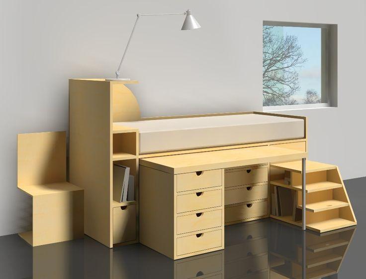 16 Best Images About Desk Bed Ideas On Pinterest Bunk