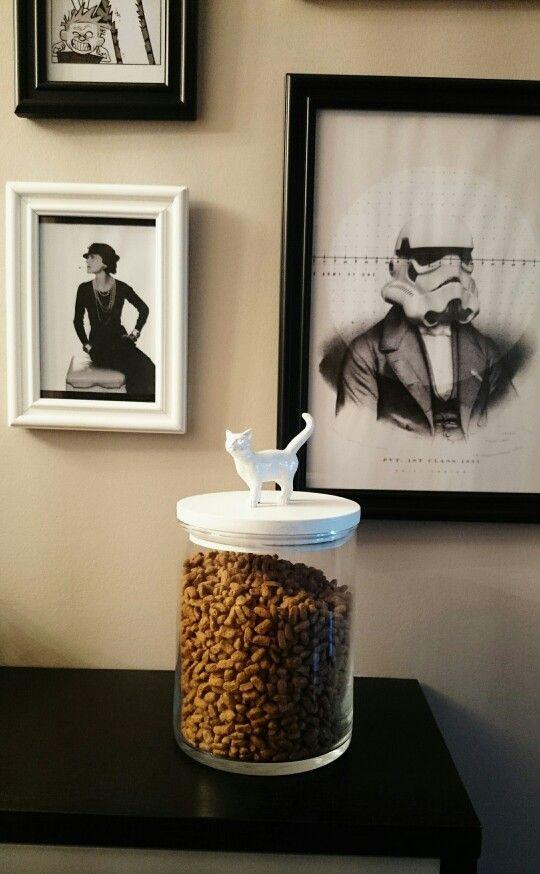 Un joli pot en verre pour les croquettes du chat!!   DIYclémentine