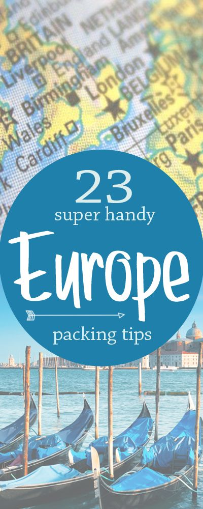 The best of #travel: my Europe packing list. http://toeuropeandbeyond.com/europe-travel-packing-list/
