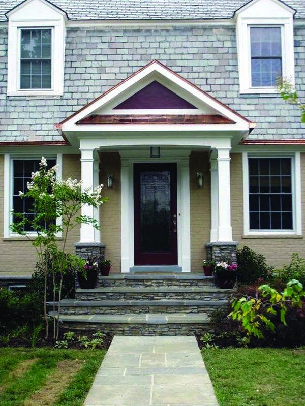 The Latest Front Door Ideas That Add Curb Appeal Value To Your Home Porch Design Door Overhang Front Door Overhang