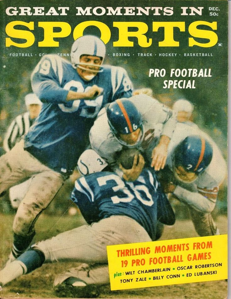 1960 Great Moments in Sport Football magazine, Frank Gifford, New York Giants~Fr