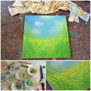 Malanleitung: Fühlingswiese in Acrylfarben  http://staffeleien-shop.de/artina-magazin/malanleitung-fuehlingswiese-in-acrylfarben/
