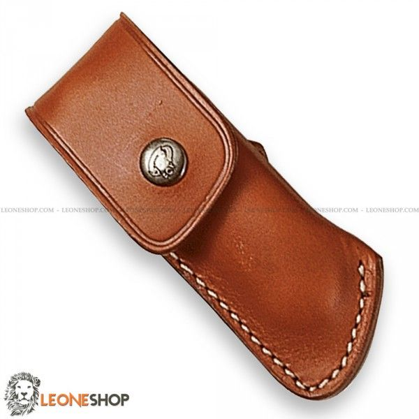 """Sheath for Knives FOX Italy, bags, cases and sheaths in Leather to take with you your folding knife - Lenght 3.9"""" - FOX Italy Leather sheath for knives really exceptional with quality materials, superior quality in all components, with strap closure and belt loop."""