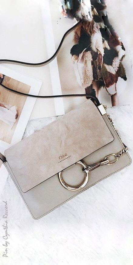 Chloe small shoulder bag 'Faye' in suede calfskin | cynthia reccord