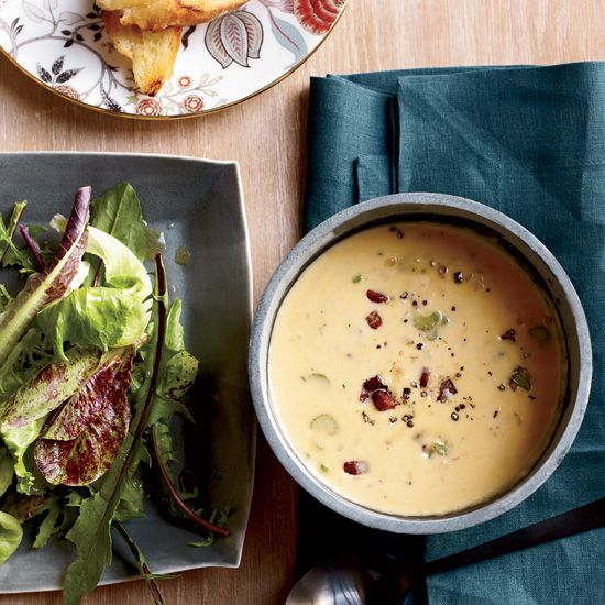 Beer-and-Cheddar Soup | Food & Wine