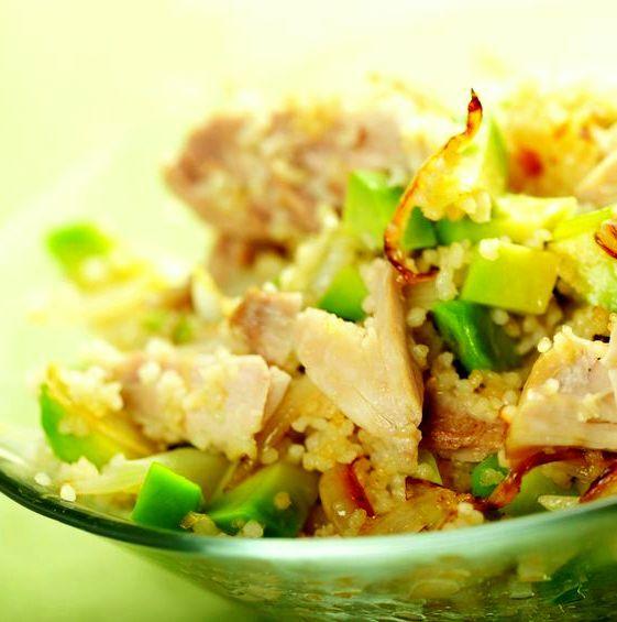 Salade poulet avocat http://www.recettes.net/entrees/salade-de-poulet-a-l-avocat,,99.html #recette #salade #poulet #avocat #food #foodie #yummy