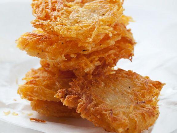 Kartoffelrösti ist ein Rezept mit frischen Zutaten aus der Kategorie Wurzelgemüse. Probieren Sie dieses und weitere Rezepte von EAT SMARTER!