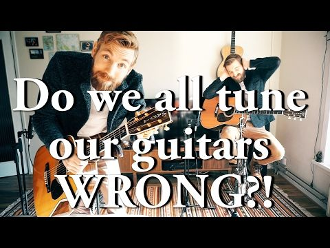 """""""We all have been tuning our guitars wrong""""   Can you hear the difference? - YouTube"""