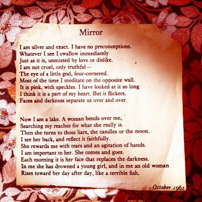 Mirror ....by Sylvia Plath .....