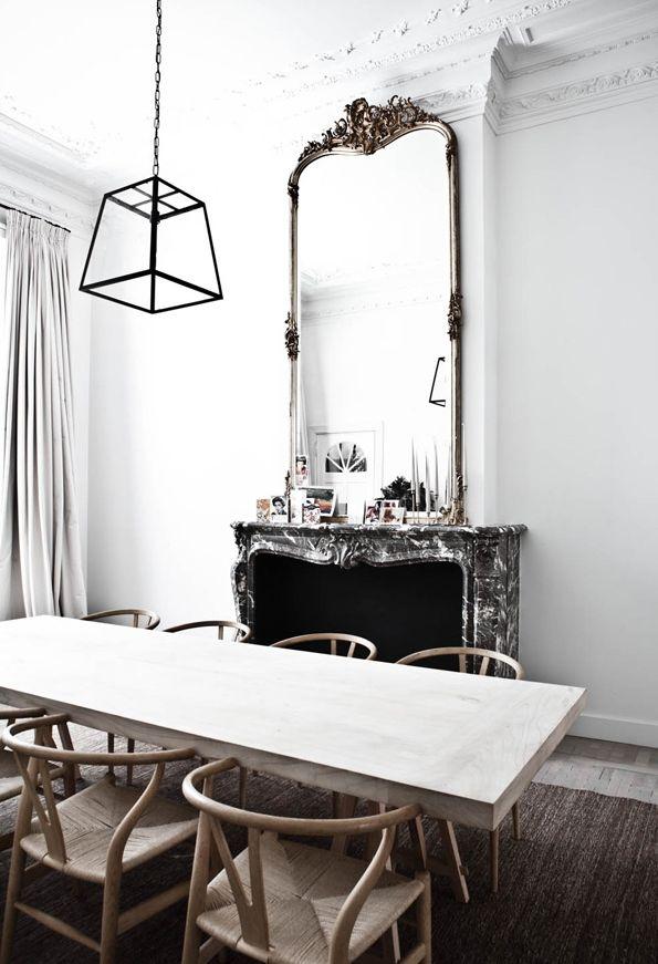 Vincent Van Duysen Dining Room Antwerp - wegner chairs