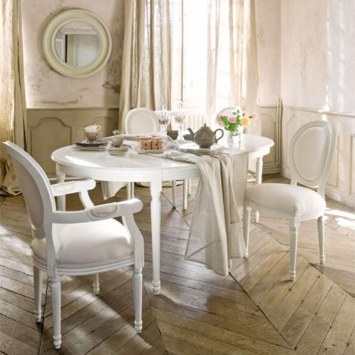 White dining table  Louis