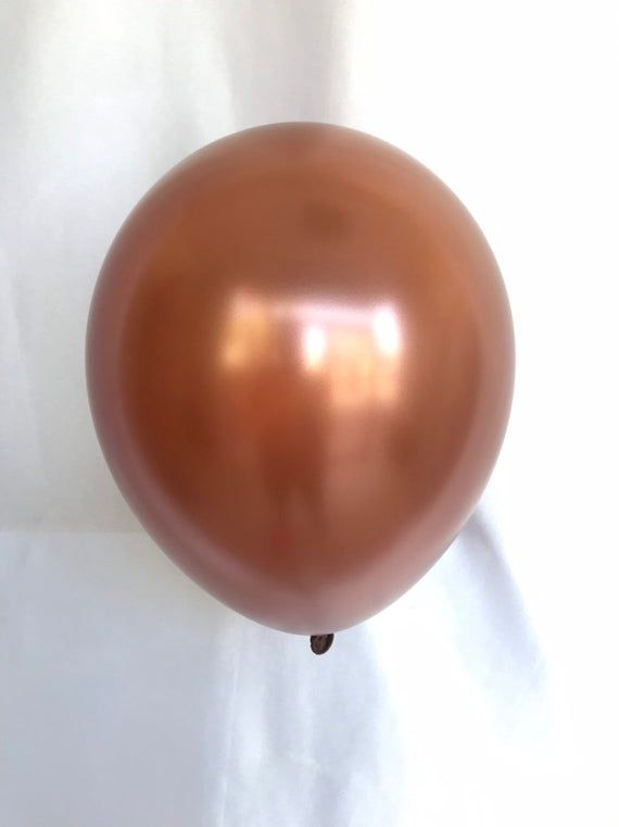 """This listing is for a Copper 11"""" latex balloon, these are high quality decorators Balloons!!! Decorate with the best!!! With vibrant colors each col..."""