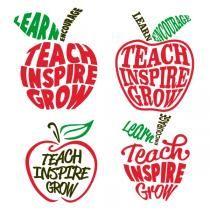 Download Teach Inspire Grow SVG Cuttable Designs   Teacher ...