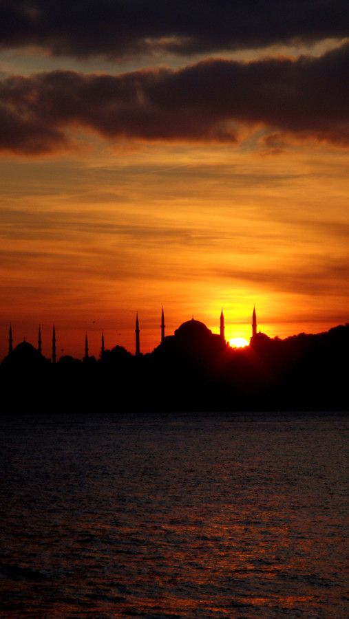 Sunset in Istanbul, Turkey...