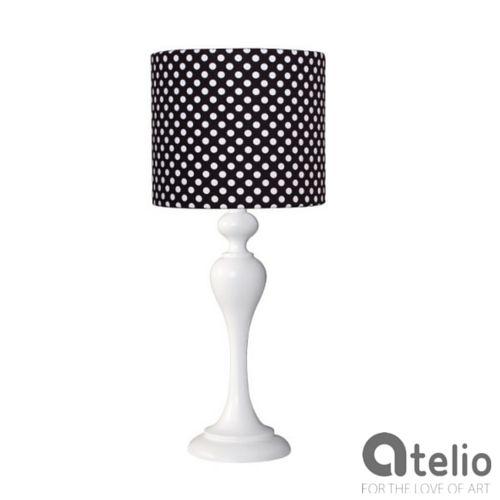 Designerska lampa z abażurem w kropki. MAIRO | atelio.pl #dots #kropki #design #lamp #lampa #atelio