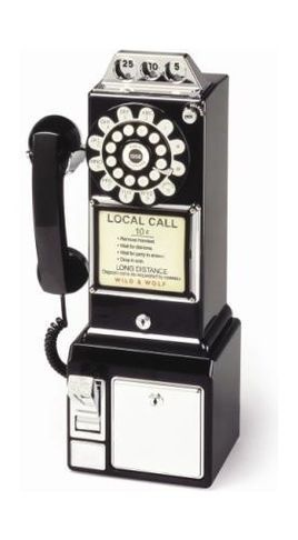 "This is where the saying ""drop a dime"" comes from... the pay phone."