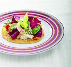 Piadina di ceci con purè di sedano rapa allo zafferano - Tutte le ricette dalla A alla Z - Cucina Naturale - Ricette, Menu, Diete